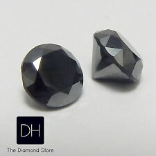 1.16 Ct. Loose Round Cut Black Diamond Enhanced Pair Pendant Earring Gifts