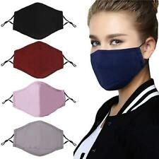 Washable Face Mask Anti Pollution Cotton Mouth Reusable Respirator PM 2.5 Filter