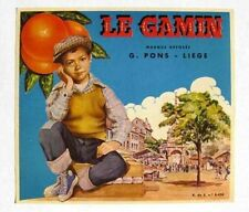 1960s Orange Crate from Spain Spanish Label Le Gamin Little Boy