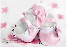 Bautizo del bebé niña patente Suave Zapatos Boda Inteligente Formal de Fiesta Rosa