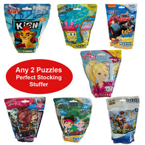 Puzzles 2PC Choices Toy Story Sponge Bob Barbie Minions Dory Lion King Blaze