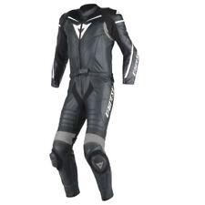 Tute in pelle e altri tessuti neri per motociclista uomo , Taglia 56