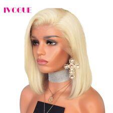 "#613 Ash Blonde Human Hair Bob Wig Short Virgin European Remy Lace Front Wig 10"""
