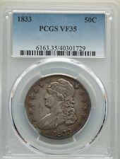 1833 Philadelphia 50C PCGS VF 35