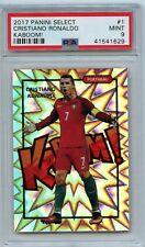 2017-2018 Panini Select #1 Cristiano Ronaldo Kaboom! PSA 9 MINT Portugal