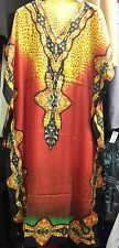Ladies Women's Summer Cool Butterfly Print Long Kaftan Dress 12 to 24 Fit