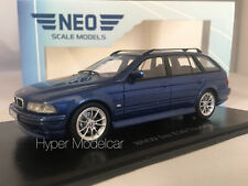 NEO SCALE MODELS 1/43 BMW 530D (E39) TOURING 2002 BLUE MET. ART. NEO49555