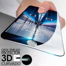 """CRISTAL TEMPLADO CURVO PROTECTOR DE PANTALLA PARA IPHONE 8 4.7"""" NEGRO"""