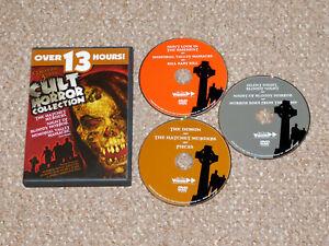 Cult Horror Collection DVD 2005 3-Disc Set Kill Baby Kill Hatchet Murders