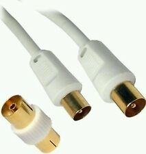 Extra long/ 5M Aerial Cable Male RF TV  Gold Coaxial Digital Plug To Plug Lead