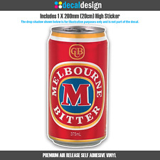Melbourne Bitter Beer Can Sticker for Car Boat Camping Man Cave Fridge Garage