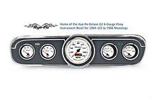 65 Mustang GT 5 Gauge Classic Instrument Cluster w/ Comp 2 White Sport Gauges