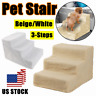 US Pet Puppy 3 Steps Dog Cat Stairs Ladder Climb Ramp W/Cover for Couch or Bed