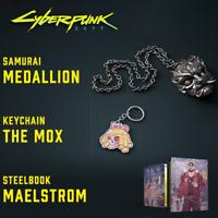 Cyberpunk 2077 Collectors Edition PREORDER BONUS Steelbook + Keychain + Medalion
