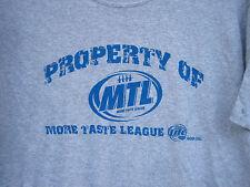 New (L) retro logo MILLER LITE T Shirt  PROPERTY OF league baseball football LG