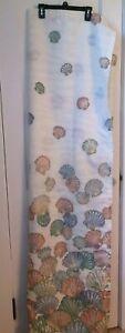 Vintage Retro Fabric Shower Curtain ~ Seashells, Nautical, Coastal Beach House