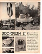 1969 SCORPION LT DUNE BUGGY ~ ORIGINAL 2-PAGE ARTICLE / AD