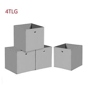3er Set Spielzeugbox Faltkorb in 32x32x32 cm Faltbox Aufbewahrungsbox LIVING