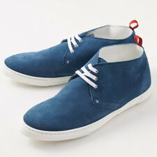 NIB $1150 KITON Teal Blue Suede Lightweight Chukka Sneakers US 10 (It 9) Shoes