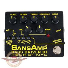 Brand New Tech 21 SansAmp Sans Amp Bass Driver DI Direct Box EQ Pedal
