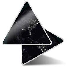2 x Triangle Stickers 10 cm - USA Earth America Globe  #2243