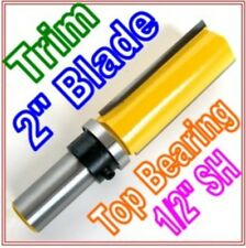 "1 pc 1/2""SH 2"" Blade Top Bearing Flush Trim Router Bit  sct 888"