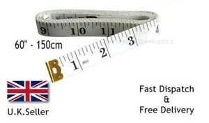 Dressmakers Tape Measure Fabric Tailor Sewing Seamstress Diet Brass Eyelet Ends