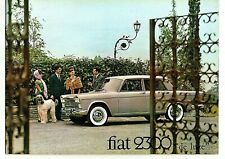 Fiat 2300 De Luxe & Station Wagon 16 Pages Sales UK Brochure Circa 1963