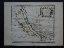 1662 SANSON Atlas map  CALIFORNIA ISLAND  Guadalajara Nouveau Mexique Californie