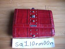 Gianni Versace Red leather Wallet authentic purse hand satchel