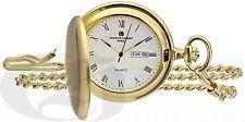 Case Quartz Pocket Watch 3974-G Charles-Hubert Gold-Plated Satin Finish Hunter