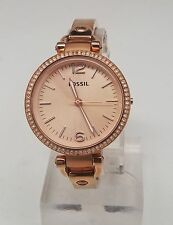 Fossil Georgia Glitz Rose Gold-tone Ladies Watch ES3226 missing stem