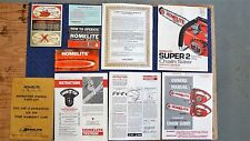 Lot of Vintage Homelite Chain Saw  Owners Manuals and lnfo sheets 70's-80's