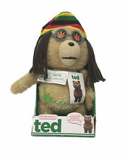 Genuine Ted the Movie Talking Bear Plush Boxed Rastafarian Hemp (MOVING MOUTH)