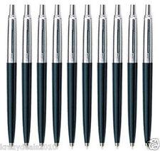 10 x Parker Jotter Standard CT Ball Point Pen, Black Body, Blue Ink, Fine Nib