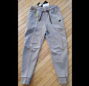 Nike Tech Fleece Slim Fit Jogger Pants Tapered Taupe Haze CZ9918-229 Men's Large