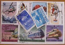 25  verschiedene Briefmarken Hubschrauber , Helicopter