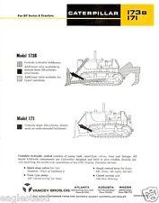 Equipment Brochure - Caterpillar - 171 173B - Attachments for D7 - 1967 (Eb503)