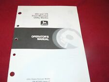 John Deere 365 & 375 Front Mounted Utility Blades Operator's Manual WPNH