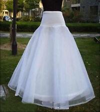 A-Linie Weiß Unterrock Hochzeit Reifrock Petticoat 1 ringe 2-Schicht Krinoline