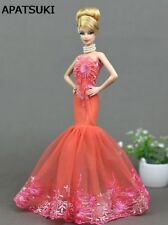 Fashion Mermaid Clothes For Barbie Doll Fishtail Wedding Party Dress For Barbie
