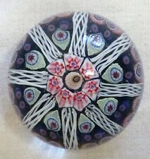 Vintage Strathearn Glass Millefiori 8 Spoke Paperweight