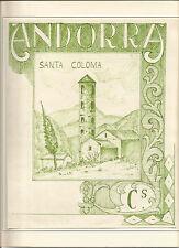 Prueba a tinta china ANDORRA Santa Coloma sin cartucho de valor