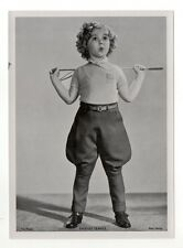 Shirley Temple 1937 Union Dresden Film Star Series 1 5X7 Cigarette Photo Card