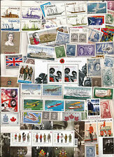 vintage MINT Military theme FULL GUM CANADA Canadian postage stamps lot A59  MNH