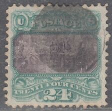 USA Scott #120 24ct Pictorial Used VF+ Centering Rare NYFM? CV $650