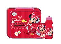 GIM17  Disney Minnie Maus Mouse 3tlg Set Lunchbox Brotdose+Trinkflasche+Tasche