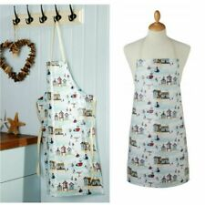 Wipe able Apron Cooking Dinner painting beside The Sea Cooksmart Nautical Cotton