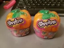 2x Shopkins Exclusive Halloween 2016 Pumpkin Surprise blind box NEW UNOPENED