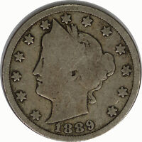 1889 5C Liberty V Nickel Raw Circulated US Coin
